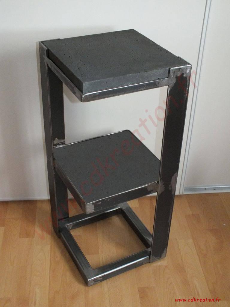 cdrikdesign kreation meubles style industriel en acier. Black Bedroom Furniture Sets. Home Design Ideas